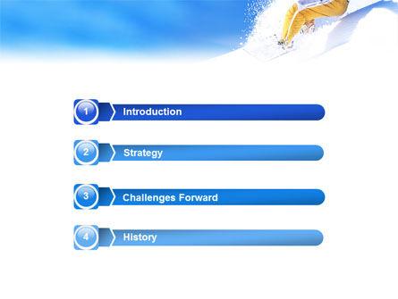 Snowboarding In Deep Snow PowerPoint Template, Slide 3, 01771, Sports — PoweredTemplate.com