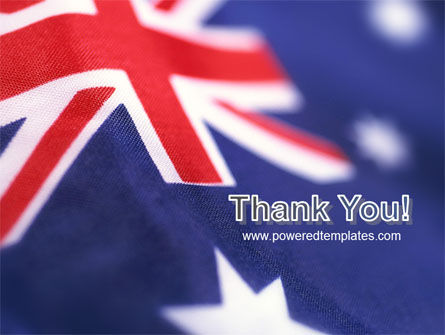 Australian Flag PowerPoint Template Slide 20