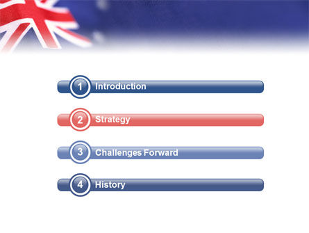Australian Flag PowerPoint Template Slide 3