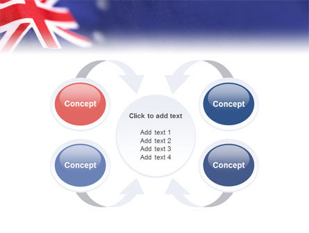 Australian Flag PowerPoint Template Slide 6