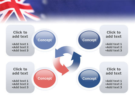 Australian Flag PowerPoint Template Slide 9