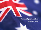 Flags/International: Australian Flag PowerPoint Template #01774