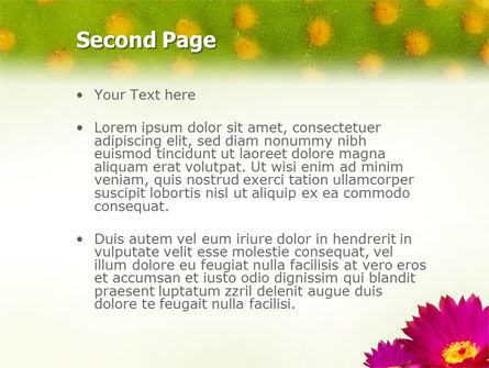 Bright Flower PowerPoint Template, Slide 2, 01777, Nature & Environment — PoweredTemplate.com