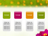 Bright Flower PowerPoint Template#5