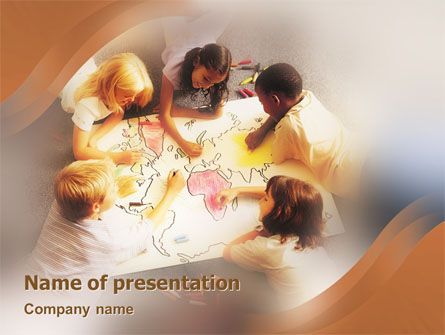 Education & Training: Primary School Geography Lesson PowerPoint Template #01778