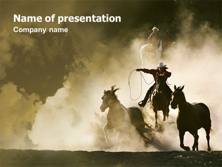 Ranch PowerPoint Template, 01781, Agriculture — PoweredTemplate.com