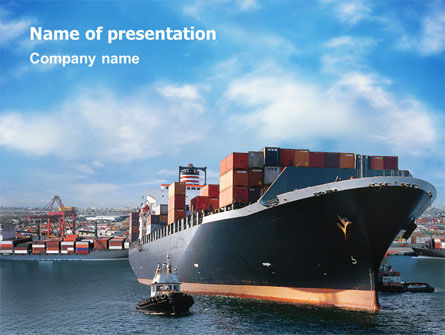 Cars and Transportation: Sea Shipping PowerPoint Template #01782