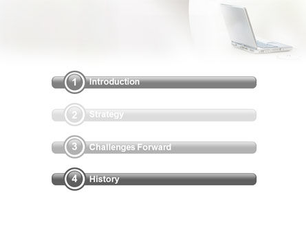 White Space With Laptop PowerPoint Template, Slide 3, 01783, Technology and Science — PoweredTemplate.com