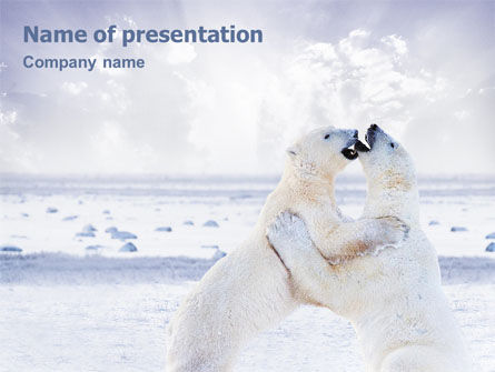 Animals and Pets: Polar Bear PowerPoint Template #01785