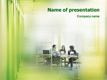 Office Discussion PowerPoint Template, 01786, Consulting — PoweredTemplate.com