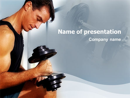 Bodybuilding Exercise PowerPoint Template, 01791, Sports — PoweredTemplate.com