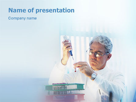 Medical Test PowerPoint Template, 01792, Technology and Science — PoweredTemplate.com