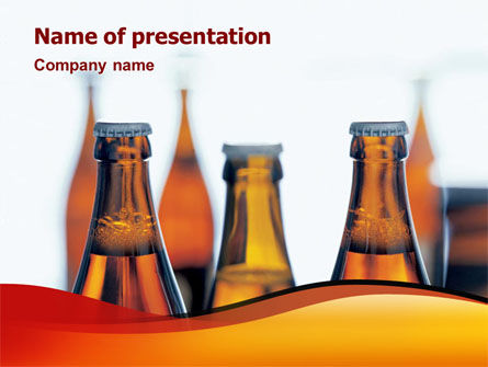 Bottles of Beer PowerPoint Template, 01793, Food & Beverage — PoweredTemplate.com