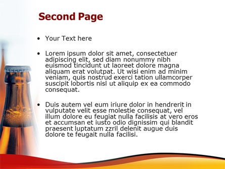 Bottles of Beer PowerPoint Template Slide 2