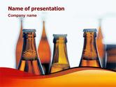 Food & Beverage: Bottles of Beer PowerPoint Template #01793