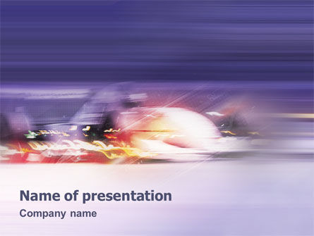 Rush PowerPoint Template, 01795, Sports — PoweredTemplate.com