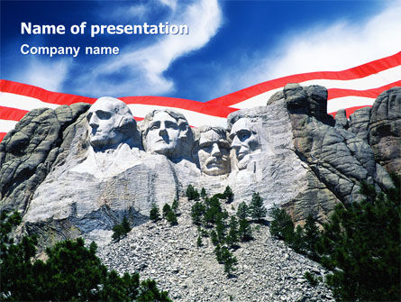 National Memorial PowerPoint Template, 01796, Flags/International — PoweredTemplate.com