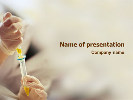 Chemical Test PowerPoint Template, 01798, Technology and Science — PoweredTemplate.com
