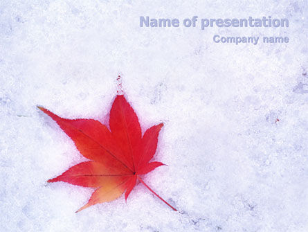Winter Season PowerPoint Template, 01800, Nature & Environment — PoweredTemplate.com