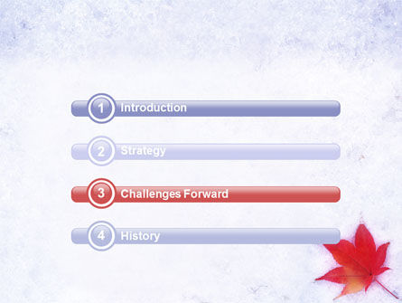 Winter Season PowerPoint Template, Slide 3, 01800, Nature & Environment — PoweredTemplate.com