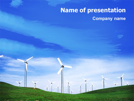 Wind Energy PowerPoint Template, 01801, Technology and Science — PoweredTemplate.com