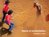 Agriculture: Rodeo PowerPoint Template #01802