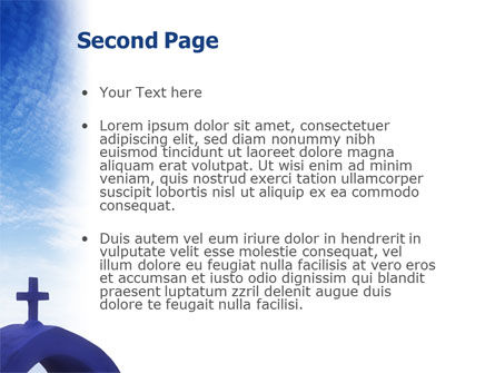 Blue Cross PowerPoint Template Slide 2
