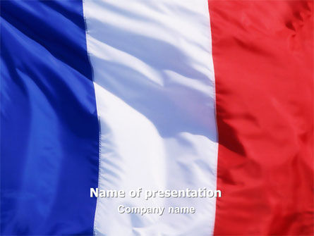 French Flag PowerPoint Template, 01805, Flags/International — PoweredTemplate.com