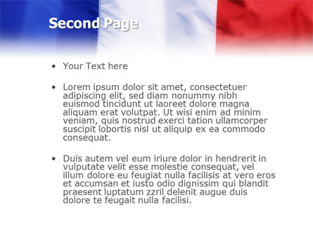 French Flag PowerPoint Template, Slide 2, 01805, Flags/International — PoweredTemplate.com