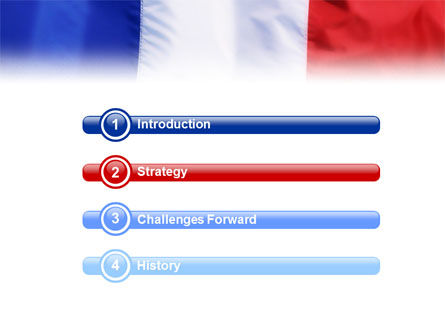 French Flag PowerPoint Template, Slide 3, 01805, Flags/International — PoweredTemplate.com