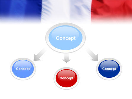 French Flag PowerPoint Template, Slide 4, 01805, Flags/International — PoweredTemplate.com