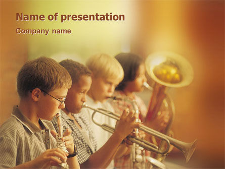 Art & Entertainment: Music School PowerPoint Template #01806