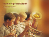 Art & Entertainment: Plantilla de PowerPoint - escuela de musica #01806