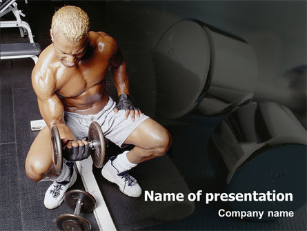 Weightlifter PowerPoint Template, 01807, Sports — PoweredTemplate.com