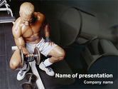 Sports: Weightlifter PowerPoint Template #01807