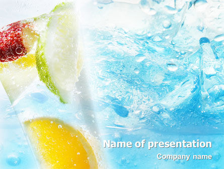 Soft Drink PowerPoint Template, 01808, Food & Beverage — PoweredTemplate.com