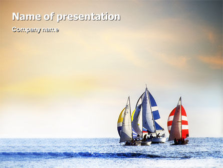Sailing PowerPoint Template, 01809, Sports — PoweredTemplate.com