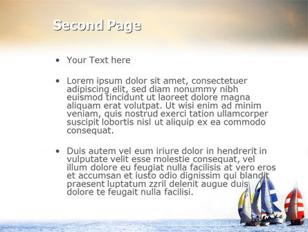 Sailing PowerPoint Template, Slide 2, 01809, Sports — PoweredTemplate.com
