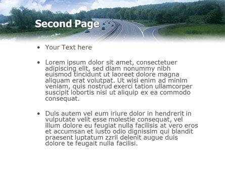 Highway In Twilight PowerPoint Template Slide 2