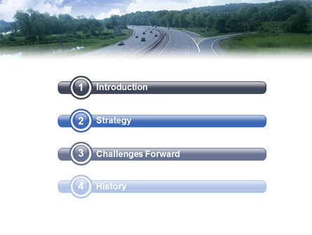 Highway In Twilight PowerPoint Template, Slide 3, 01811, Cars and Transportation — PoweredTemplate.com