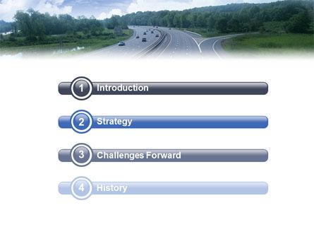 Highway In Twilight PowerPoint Template Slide 3