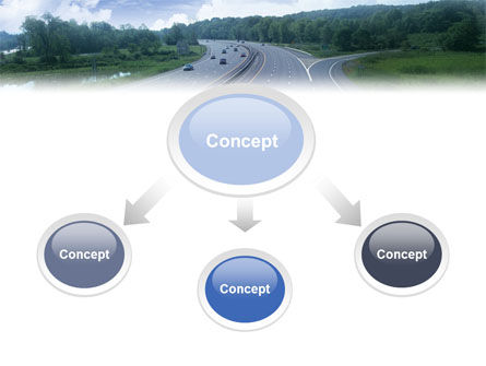 Highway In Twilight PowerPoint Template Slide 4