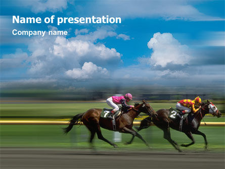 Sports: Horse Races PowerPoint Template #01813