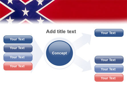The Battle Flag of the Confederacy PowerPoint Template Slide 14