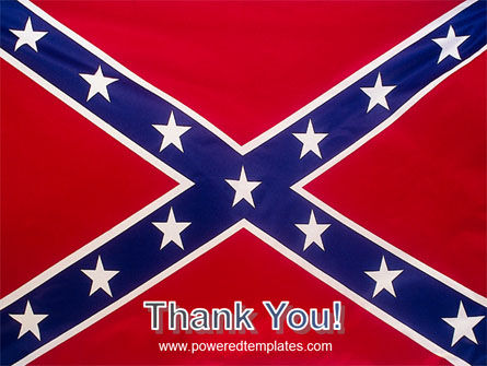 The Battle Flag of the Confederacy PowerPoint Template Slide 20