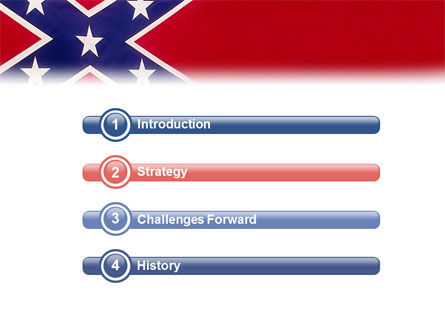 The Battle Flag of the Confederacy PowerPoint Template, Slide 3, 01814, Flags/International — PoweredTemplate.com