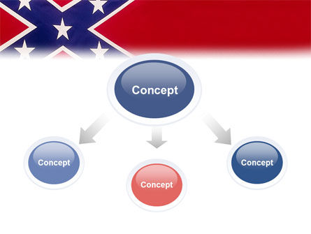 The Battle Flag of the Confederacy PowerPoint Template, Slide 4, 01814, Flags/International — PoweredTemplate.com
