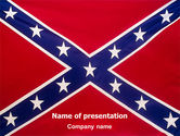 Flags/International: The Battle Flag of the Confederacy PowerPoint Template #01814