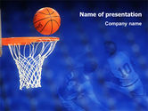 Sports: Basketball Match PowerPoint Template #01816