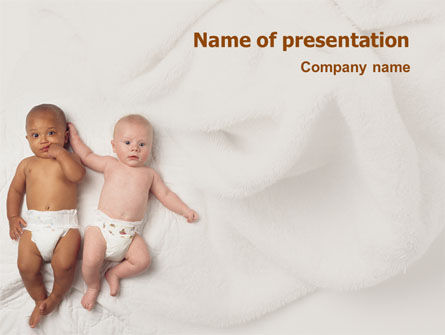 People: Children Of Different Races PowerPoint Template #01817